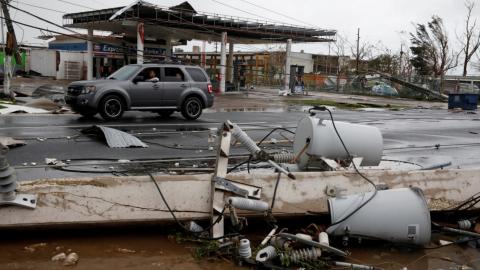 Damage from Hurricane Maria in Guayama, Puerto Rico